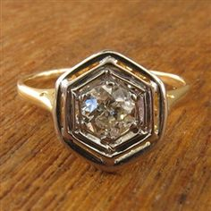 THIS!   Adelle Vintage Diamond Engagement Ring circa 1915