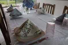 Decoração para jantar em Família - tema hortências