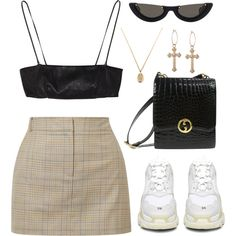 Untitled #140 by lonelylola on Polyvore featuring polyvore, fashion, style, TIBI, Yves Saint Laurent, Balenciaga, Gucci, PAWAKA and clothing