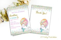 Mermaid Digital Invitation  Mermaid Birthday Invitation  You