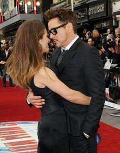 "Robert and wife Susan - ""Iron Man 3"" premiere in London."
