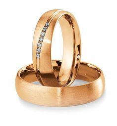 Breuning Trouwringen | Inspiration collectie gouden ringen | 5,5mm briljant 0.084ct verkrijgbaar in 8,14 en 18 karaat | 48041350 / 48041360 OOK in wit en geel goud verkrijgbaar