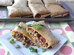 Healthy Oven Fried Chimichangas 7 points plus | SugarFreeMom.com