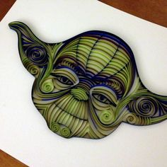 Etsy quilled Yoda