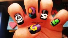 jack skellington nail art | christmas nail art nightmare before christmas nail art for halloween