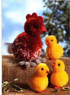 Easter Crafts, Fun Crafts, Diy And Crafts, Arts And Crafts, Yarn Animals, Pom Pom Animals, How To Make A Pom Pom, Pom Pom Crafts, Easter Crochet
