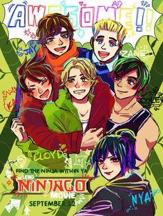 Ninjago Movie poster remake, Pretty awesome man Lego Ninjago Movie, Lego Movie, Little Kid Shows, Ninja Art, Treasure Planet, Video Go, Cartoon Shows, Anime Comics, Disney Movies