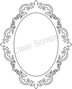 Medium Oval Fancy Frame: