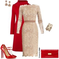 """Lace and Red #3"" by marion-fashionista-diva-miller on Polyvore"