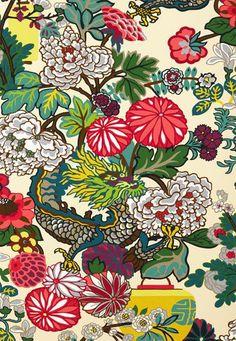modern chinoiserie fabric - Chiang Mai
