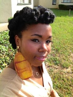 Natural Hair - Protective Style, beautiful brown baby doll