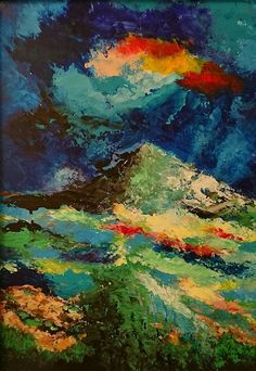 Natural abstract an abstract acrylic painting art on canvas full of color and texture, it a nice acrylic view for art decor inside the home Nasri Georges Ottawa