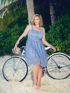 Crinoline Dress...Available at Addition Elle, your plus size fashion destination #plussize