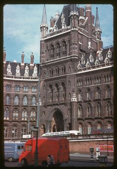 A rather grubby but ornate St Pancras Station photographed on the May London History, Tudor History, British History, Vintage London, Old London, North London, Hotels And Resorts, Best Hotels, Cheap Luxury Hotels