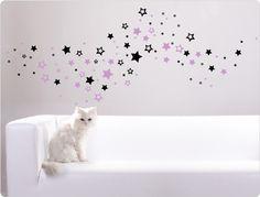 Cool Wandtattoo Sterne zweifarbig N