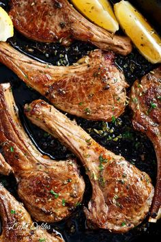 Greek Lamb Chops Just like a Greek restaurant or even better! Whether you decide to grill them or fry them in a cast iron skillet (or regular pan), these homemade Greek Lamb Chops are a family favourite! Lamb Chop Recipes, Meat Recipes, Cooking Recipes, Healthy Recipes, Dinner Recipes, Best Lamb Chop Recipe, Healthy Nutrition, Recipies, Healthy Eating