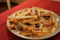 Gluten-Free Hamburger Horseshoe Sandwich - Toast, Burger, Cheese Sauce, and Fries! A Central Illinois Specialty!