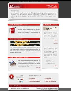 ThemeForest Company Newsletter Email Template #website - Stylendesigns.com!