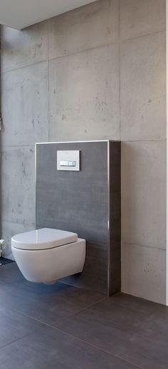 Fliesen in Betonoptik kombiniert mit gespachteltem Beton (made by FR-Malermeister - Dortmund).