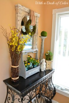 With a Dash of Color: Spring Greens In The Foyer