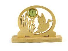 Duck Taking Flight Desk Or Shelf Clock Handmade From Ash Wood By KevsKrafts by KevsKrafts on Etsy https://www.etsy.com/listing/471813777/duck-taking-flight-desk-or-shelf-clock