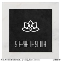 Yoga Meditation Instructor | Lotus Flower Square Business Card