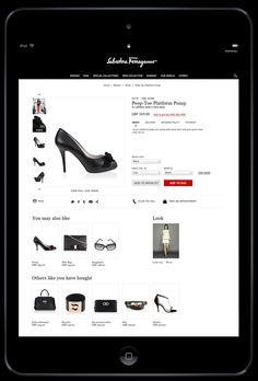 New Salvatore Ferragamo website / e-commerce by Andrea Abascià, via Behance