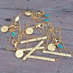 #byjasmin wanderlust gold bar chains - available online at Bagahia Store: http://bahagiastore.com/designers/by-jasmin.html