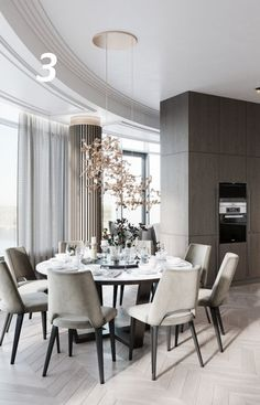 20 tips will help you improve the environment in your bedroom Beautiful design colors and details Reposted from . Luxury Dining Room, Dining Room Design, Dining Room Table, Room Interior, Home Interior Design, Layout Design, Dining Room Inspiration, Elegant Dining, Luxury Furniture