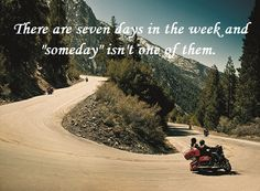 Today is Sunday not Someday get out and ride! Summer is ending soon!www.hdlongbranch.com