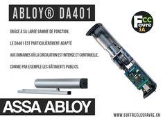 Abloy® DA401 Les caractéristiques techniques de l'automatisme de porte Abloy® DA401 ainsi que son mécanisme de fermeture le rendent particulièrement adapté aux applications sur porte coupe-feu. #FERMEPORTE #OUVREPORTE #DA401 #ASSAABLOY #SECURITE #GENEVE