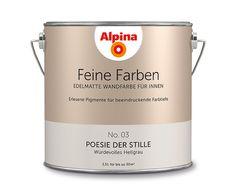 """Alpina Feine Farben """"Poesie der Stille"""":  Diese zurückhaltende, sanfte Grau-Nuance entfaltet auf den zweiten Blick eine besondere, tiefe Ausstrahlung mit einem warmen Unterton."""