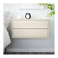 VALJE Bovenkast met 2 lades - lariks wit - IKEA
