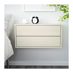 VALJE Wall cabinet with 2 drawers, larch white larch white 26 3/4x13 3/4