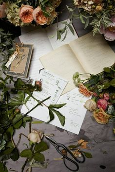 Pretty paper and flowers (via Martha Stewart)
