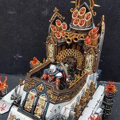 40k Sisters Of Battle, Warhammer 40k Miniatures, Battle Tank, Mini Paintings, Warhammer 40000, Nostalgia, Gaming, Concept, Rpg