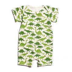 Summer Romper - Dinosaurs Green