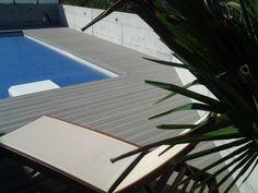 Poolterrasse mit Eco Deck Classic WPC Terrassendiele in der Farbe Steingrau Outdoor Decor, Home Decor, Beautiful Homes, Color, Decoration Home, Room Decor, Interior Decorating
