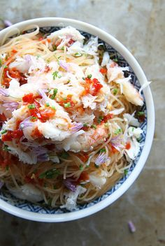 Spicy Crab and Chili Noodles Vietnamese cuisine. Food desserts and street snacks around Vietnam. Recipes
