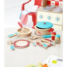 a1703815b9c3 George Home Wooden Cooking Set | Wooden Toys | George at ASDA Real Kitchen,  Mini