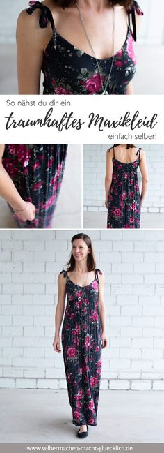Simply sew a dreamy maxi dress yourself! - Simply sew a dreamy maxi dress yourself. You can find more beautiful sewing ideas for new patterns - Sewing Clothes, Diy Clothes, Sewing Summer Dresses, Diy Fashion, Ideias Fashion, Diy Kleidung, Blog Couture, Sewing Blogs, Sewing Ideas