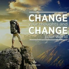 Change your thoughts and change your world. #WednesdayWisdom #FelizMiercoles #HumpDay