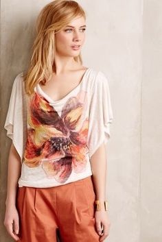 Meadow Rue Floriated Cowlneck #anthropologie #anthrofave