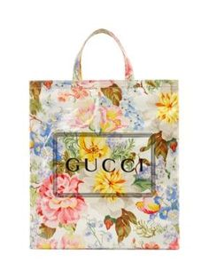 8d1d4668a GUCCI Monte Carlo Crystal Gucci Flower Print Tote. #gucci #bags #leather #