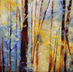 Trees / Print of Original Oil Painting  Forest by clairespaintings