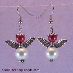 Christmas angel earrings. Think I'll make a pair of these.