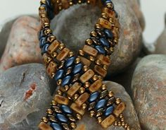 Bildergebnis für superduo beads armband fädeln