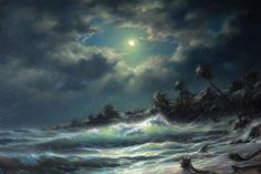 "Дмитриев Георгий,  ""Луна и Волны"" www.art-helicon.ru/rus/asp/artist/art99.asp"