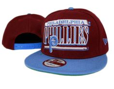 New Era MLB Philadelphia Phillies Snapback Hats Caps Red 3841! Only $7.90USD