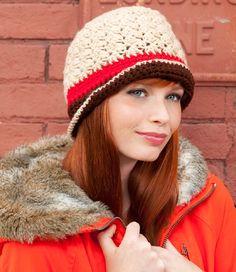 Snowstorm Crochet Hat Free Crochet Pattern Crochet Hat For Beginners, All Free Crochet, Crochet Baby Hat Patterns, Crochet Baby Hats, Crochet Ideas, Broomstick Lace, Crochet Woman, Tunisian Crochet, Red Heart Yarn